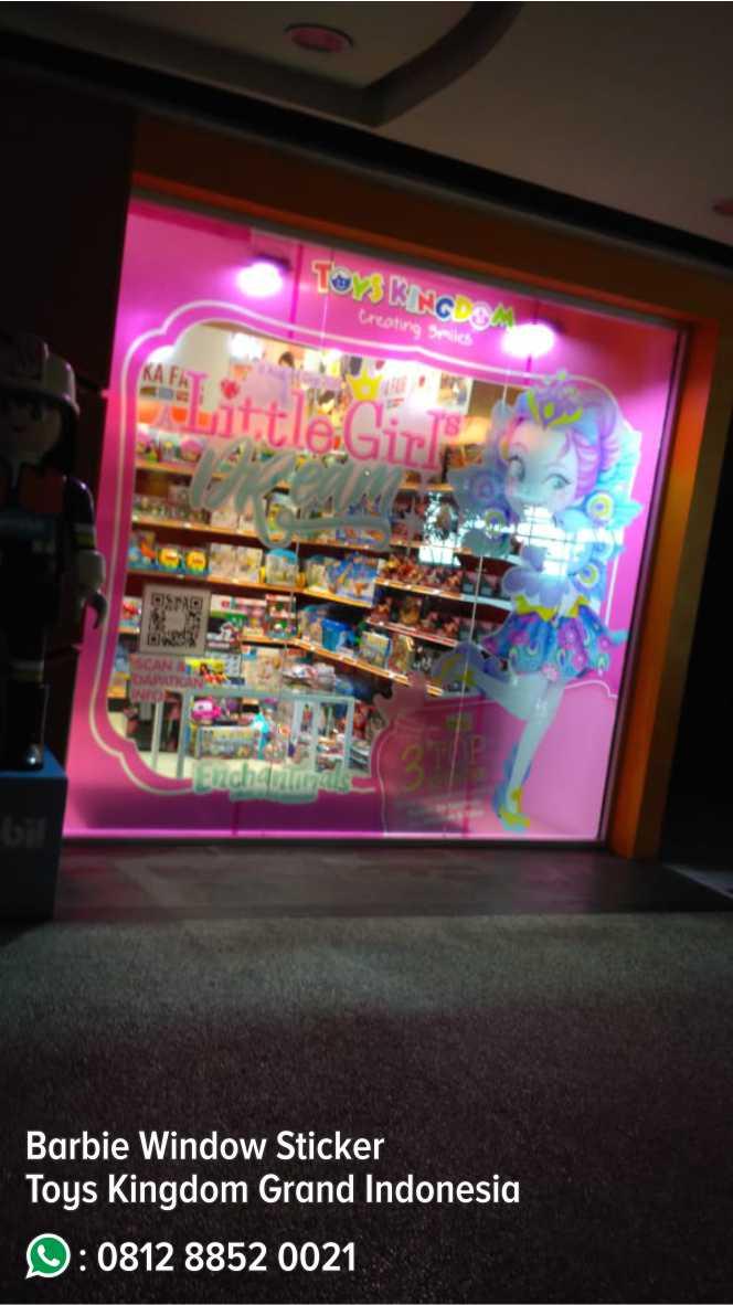 53. Barbie Window Stiker Toys Kingdom Grand Indonesia