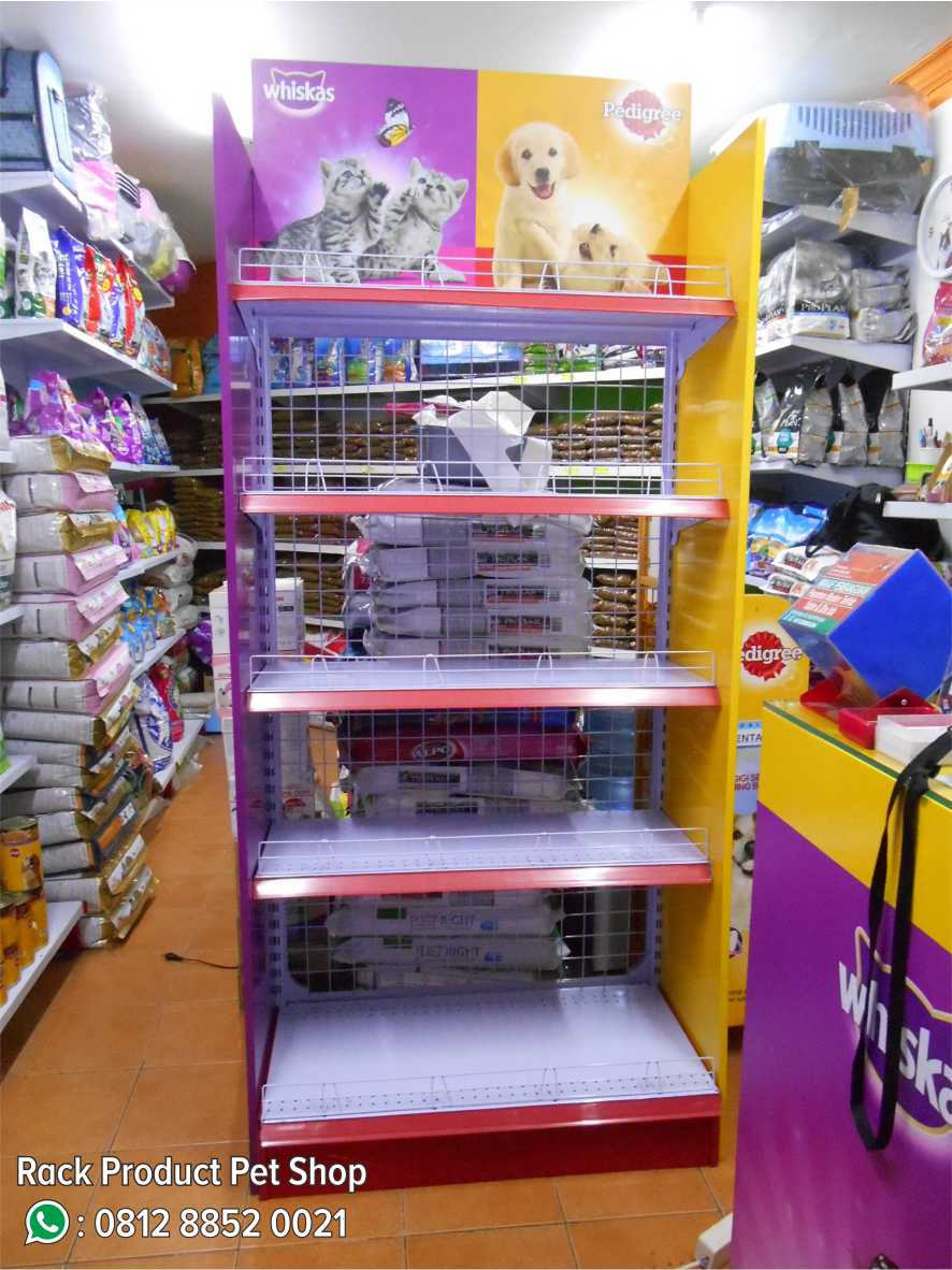 7. Rack Product Pet Shop
