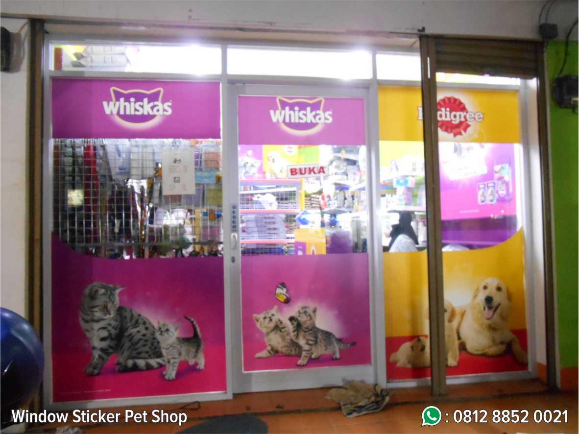 8. Window Sticker Pet Shop